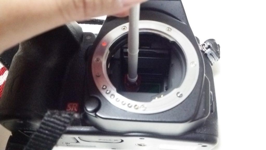 イメージセンサークリーニングキット(ペンタ棒)の使い方②