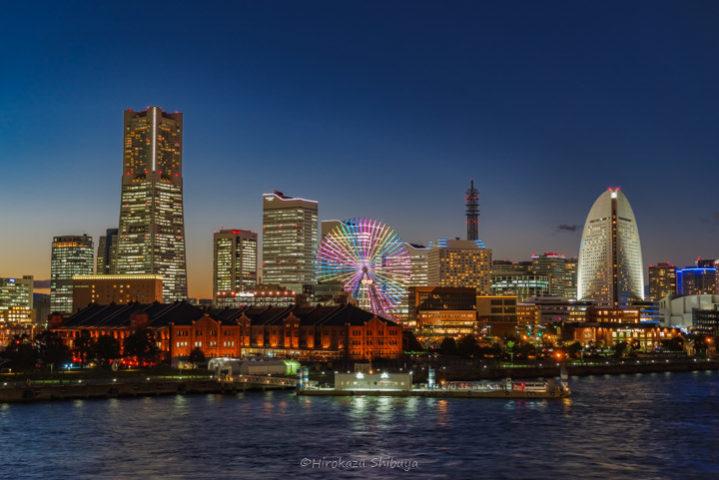 平日の都市夜景
