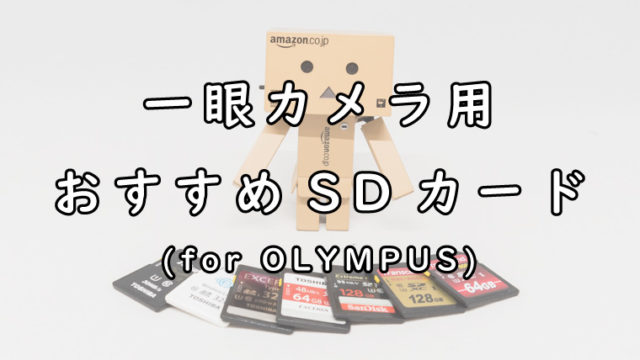 OLYMPUSの一眼カメラにおすすめなSDカード
