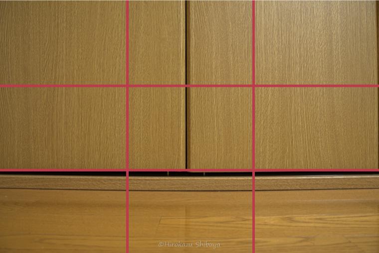 広角レンズ(28mm)による歪みの例